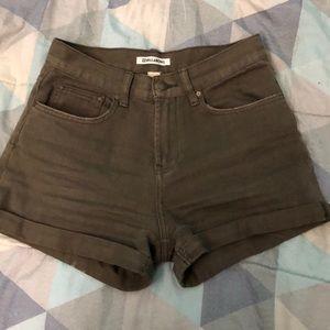 Billabong Army Green High Waisted Shorts